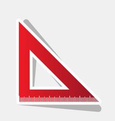 ruler sign new year reddish vector image