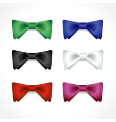 set of multi-colored bow ties vector image vector image