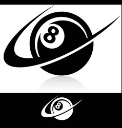 Swoosh Eight Ball Logo Icon vector image vector image