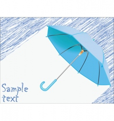 umbrella and rain vector image vector image
