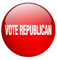 Vote republican red round gel isolated push button vector