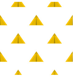 Yellow tourist tent for travel and camping pattern vector