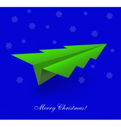 Tree Shaped Paper Plane vector image