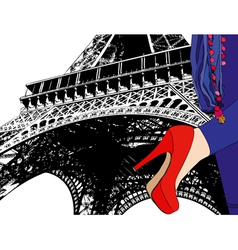 Fashion in paris vector