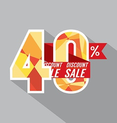 Discount 40 percent off vector