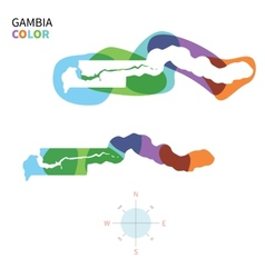Abstract color map of gambia vector
