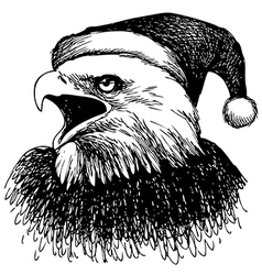Christmas eagle 1 vector