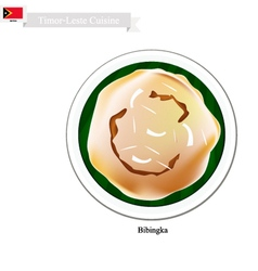 Bibingka or traditional timor-leste rice cakes vector