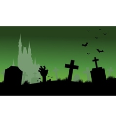Scary halloween backgrounds silhouette vector