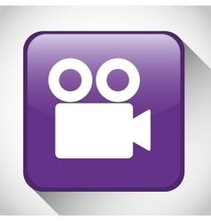Movie button icon social media design vector