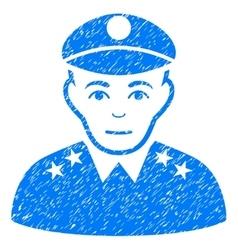 Army general grainy texture icon vector