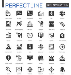 black classic navigation direction maps and vector image
