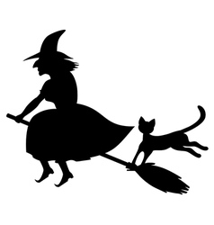 cat a witch vector image