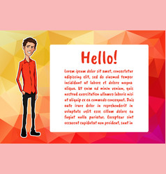 Character with bubble talk vector