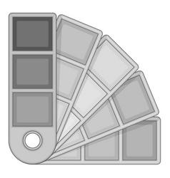 Color palette guide icon monochrome vector