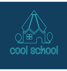 Conceptual of the school in the form of a pencil vector image