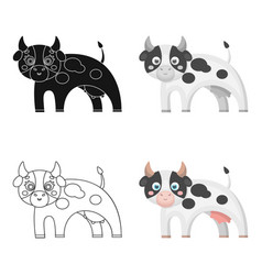 Cow single icon in cartoon stylecow vector