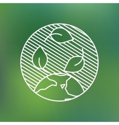 Earth globe leaves planet protection care vector