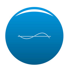 Equalizer meter icon blue vector