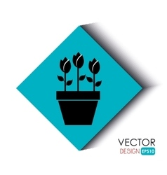 flower icon design vector image vector image