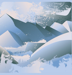 high cold mountains vector image