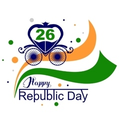 January 26 happy republic day india vector