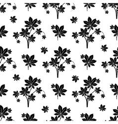 Monochromic botanical seamless pattern vector image vector image