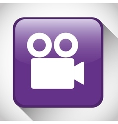 Movie button icon social media design vector