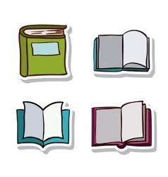 Open and close book and literature design vector