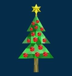 Polygon christmas tree image vector
