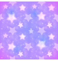 Purple blurred stars seamless pattern vector image
