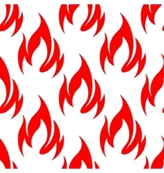 Red fire flames seamless pattern background vector image vector image