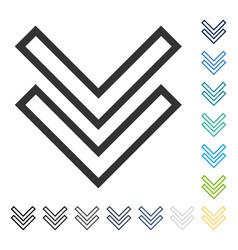 Shift down icon vector