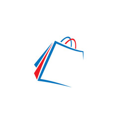 Shopping bag logo vector