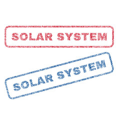 Solar system textile stamps vector