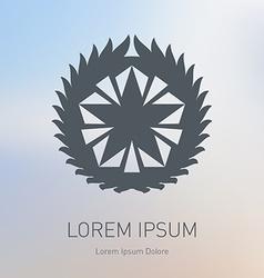 Star logo Award icon or Logotype template vector image