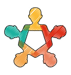 Teamwork abstract symbol vector