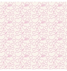 The pattern of hearts and arrows painted on hands vector image vector image