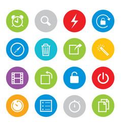 touchscreen smart phone mobile app icon vector image
