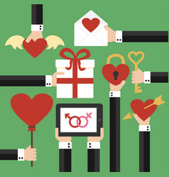 valentines day modern flat design vector image