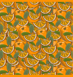 Vintage orange seamless pattern vector