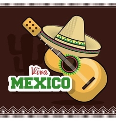 viva mexico instrument musical isolated poster vector image