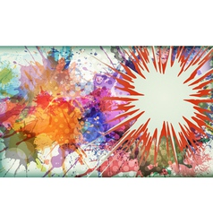 Watercolor explosion - abstract background vector