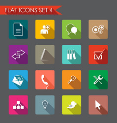 web and office icons vector image vector image