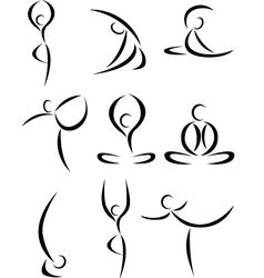 yoga symbol vector image