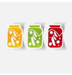 Realistic design element pickled vegetables vector