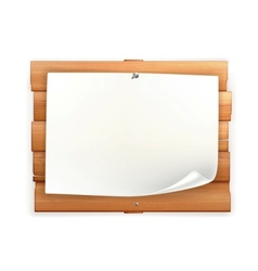 Announcement on wooden board vector image