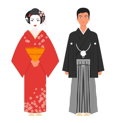 Flat style of japanese traditional clothing vector