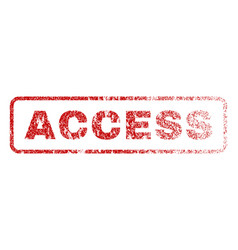 Access rubber stamp vector