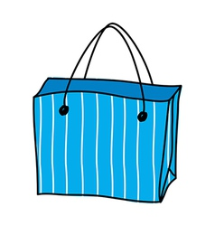 A shopping bag is placed vector